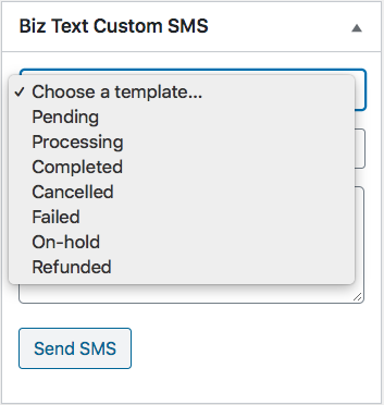 Screenshot for Status Templates